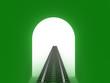 Leinwanddruck Bild Green railway tunnel №3