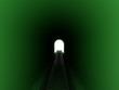 Leinwanddruck Bild Green railway tunnel №2
