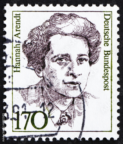 Photo  Postage stamp Germany 1988 Hannah Arendt, American Political Sci