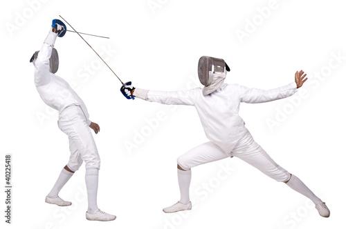 Foto-Stoff bedruckt - Fencing (von Luis Louro)