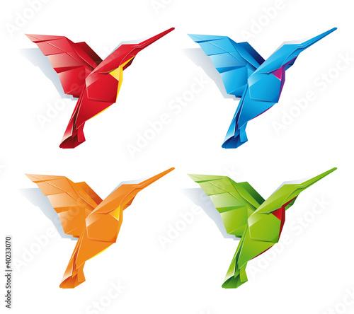 Poster Geometric animals Bird