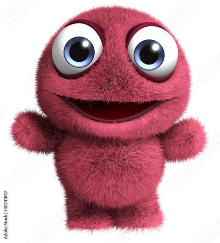 Poster de jardin Doux monstres cute furry toy
