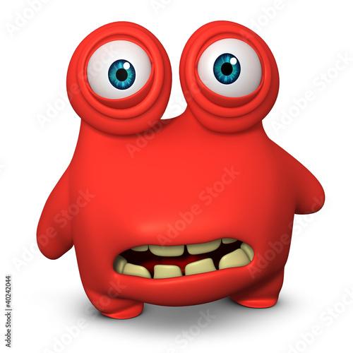 Poster de jardin Doux monstres red monster