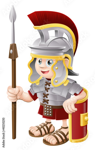 Spoed Foto op Canvas Ridders Cartoon Roman Soldier