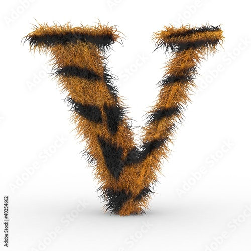Texteffekt Haare Tiger V Buy This Stock Illustration And Explore