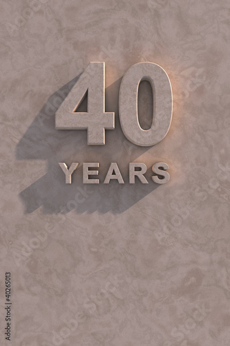Poster  40 years 3d text