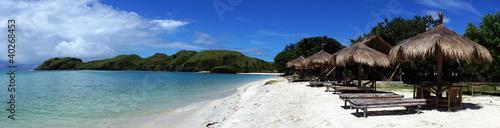 Aluminium Prints Indonesia Beach rest pavillion in islands,Indonesia