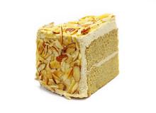 Almond Mocha Cake Isolated On White