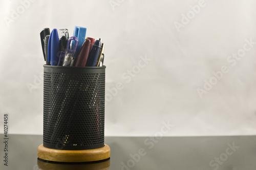 Fotografie, Obraz  metal pen and pencil holder