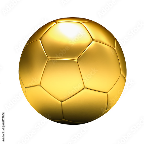 2ffb929aa golden soccer ball isolated, white background - Buy this stock ...