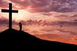 Leinwandbild Motiv Christian background - Worshiping