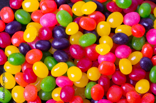 Foto op Canvas Snoepjes Assortment of Jelly Beans for background