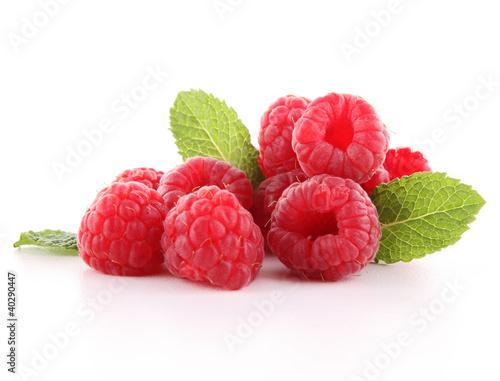 Poster Vruchten isolated raspberry