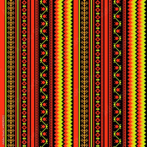 Bright textile ornamental seamless pattern