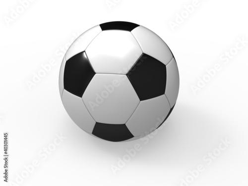 Fototapeta Piłka nożna wyizolowana na białym tle obraz
