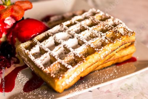 Fotografía  Belgian waffle