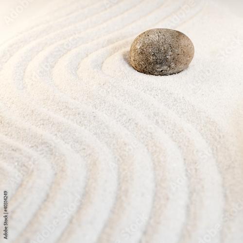 Photo sur Plexiglas Zen pierres a sable pierre et sable