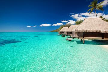 Villas on the tropical beac...