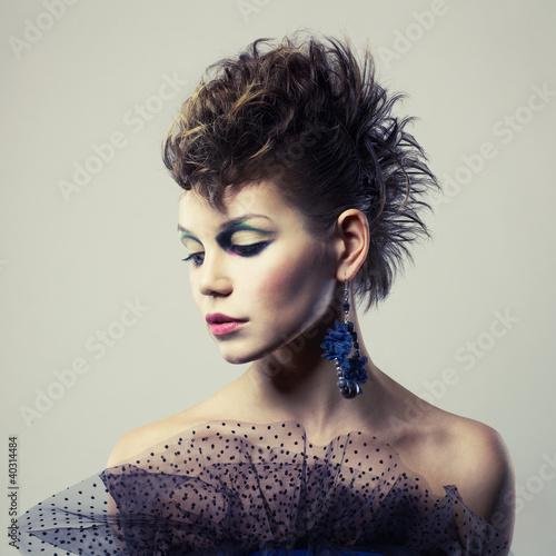 Beautiful lady punk Poster