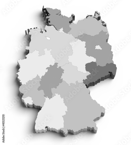 Map Of Germany 3d.3d Germany Map On White Buy This Stock Illustration And Explore