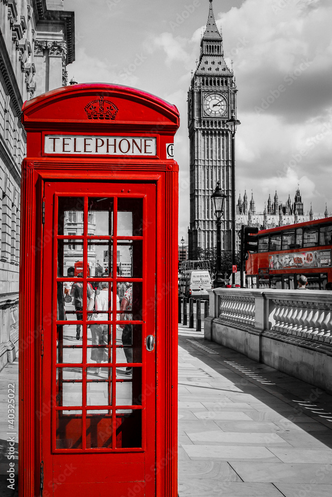 Fototapety, obrazy: Cabine Téléphone Londres