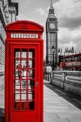 fototapeta londyńska budka telefoniczna