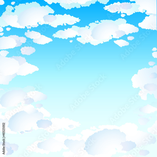 Poster Ciel Blue skies with clouds