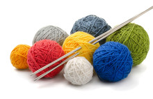 Color Yarn Balls And Knitting ...