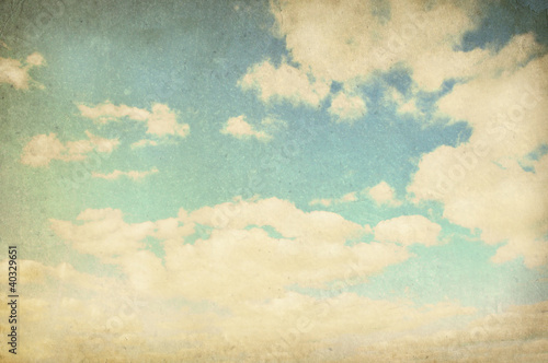 Fotobehang Retro Vintage cloudy background