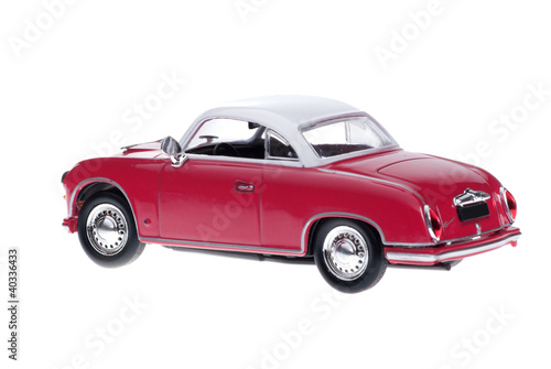 Retro Sport Car Coupe On White Background.