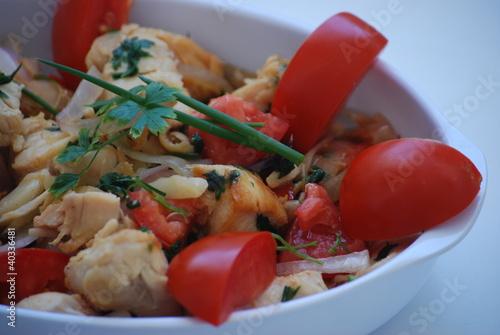 Recess Fitting Appetizer Frango com tomate