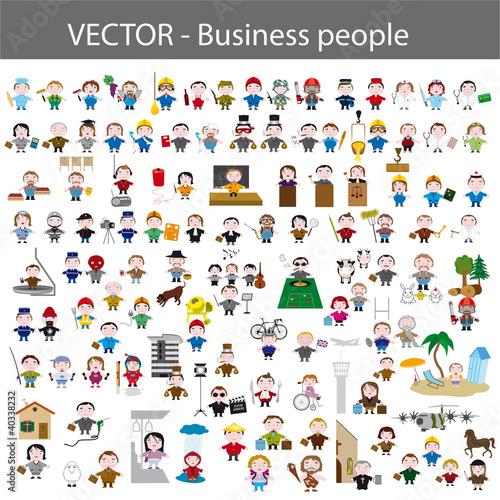 Photo  métiers, business people, icon set