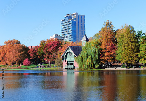 Canvastavla New York City Central Park Autumn
