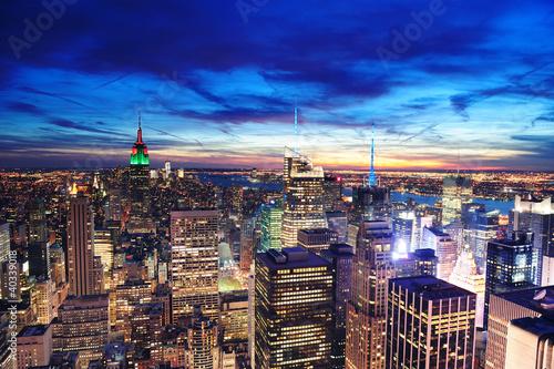 Widok z lotu ptaka Manhattan Nowy Jork linia horyzontu