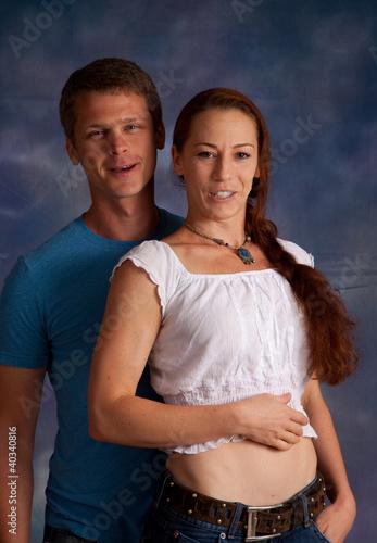 Cadres-photo bureau Artiste KB Romantic couple with him behind her,