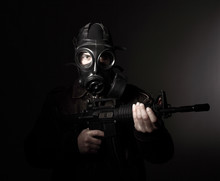Terrorist With Gas Mask