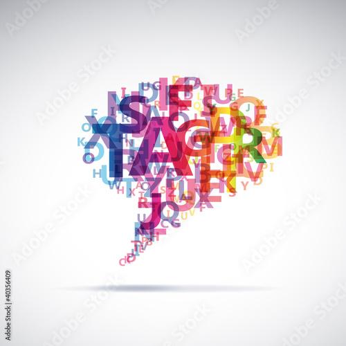 Fotografie, Obraz  Abstract colorful dialog bubble # Vector