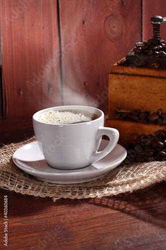 Fototapeta coffee and smoke obraz na płótnie