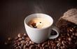 frischer, heisser Espresso
