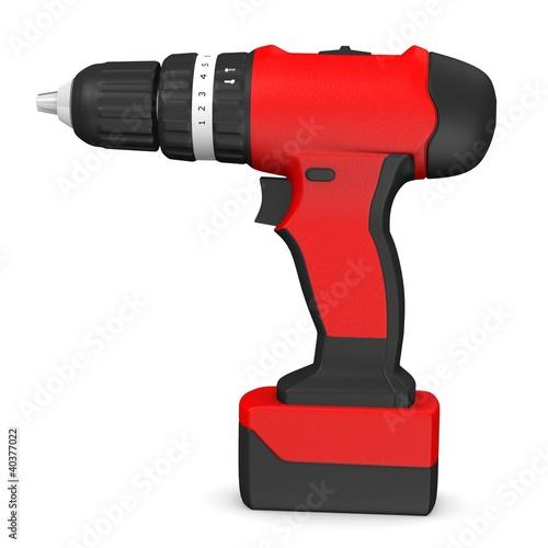 Fotografia  3d render of drill machine