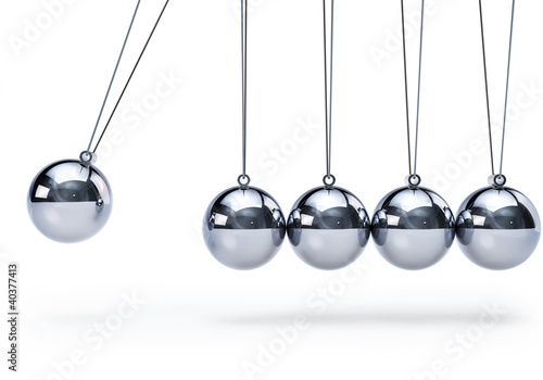 Fotografie, Obraz  Newtons cradle with five balls