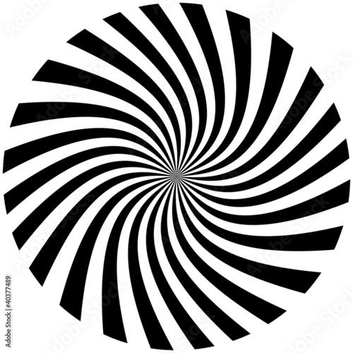 Fotobehang Spiraal spirale noire