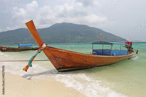 Boat at LI pe Island Thailand.