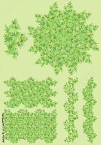 Printed kitchen splashbacks White foliage, leaves green background