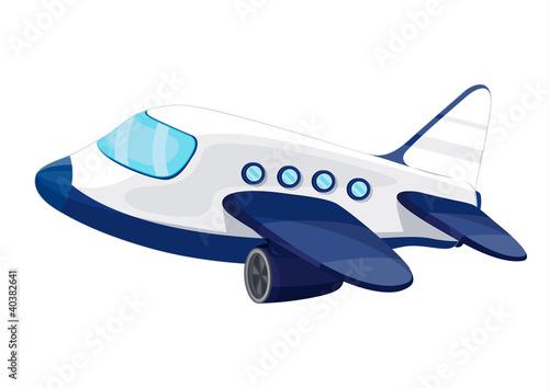 In de dag Vliegtuigen, ballon Illustration of private jet plane