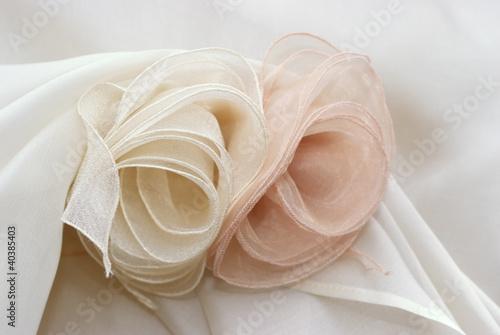 Obraz na plátně Rose in organza
