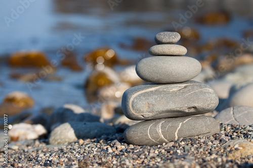 Photo sur Toile Zen pierres a sable french zen