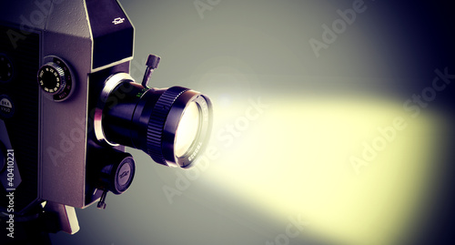 Valokuva  Old projector.