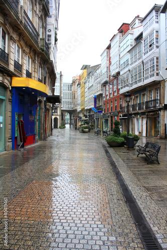 Staande foto Madrid typical street of Coruna, Spain