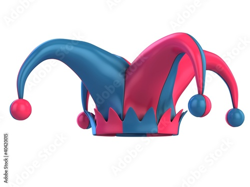 jester hat 3d illustration Wallpaper Mural